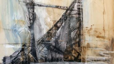 3. Valery Koshlyakov, Trampolino, 110x110 cm,  olio su tela, 2009