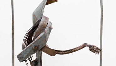6. Dmitry Gutov. Hirakushi Denchu, Harmony, 100x100 cm. Metal, welding, 2008
