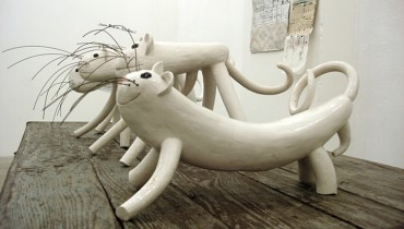 V. Radunsky, Tigers, ceramics, 2009