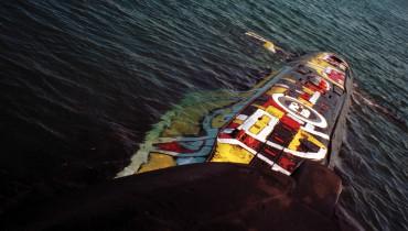 Aleksandre Ponomarev-Traccia settentrionale di Leonardo, azione in mare aperto, Mare di Barents, 1996