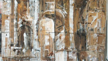 Valery Koshlyakov Arc 2007 acrilic tempera on cardboard 310 x 250 cm